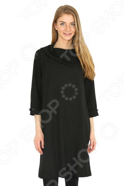 Платье Finn Flare B17-32016R. Цвет: черный