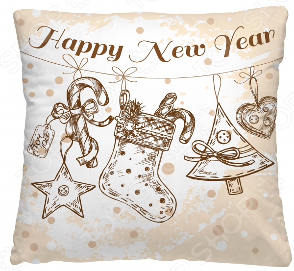Подушка декоративная Волшебная ночь «Новогодние украшения»