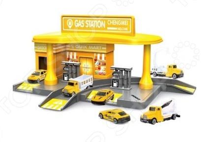 Набор игровой с машинками Наша Игрушка «Автозаправочная станция». В ассортименте море чудес игровой набор грот русалочки в ассортименте