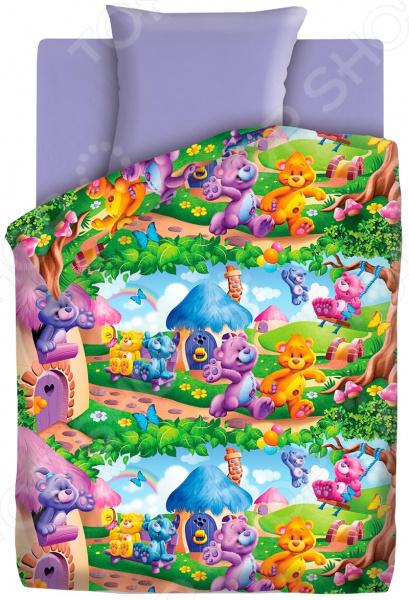 Детский комплект постельного белья Непоседа «Радужные мишки» детский комплект постельного белья непоседа лоло и пепе