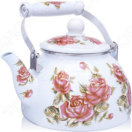 Чайник эмалированный Mayer&Boch «Розы» 27982