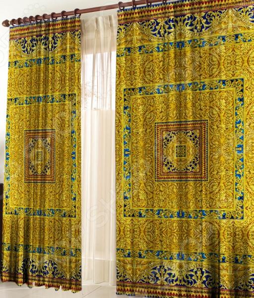 Фото - Шторы «Персидская ночь» шторы с фотопечатью цветочные букеты из сатена 290х265 см