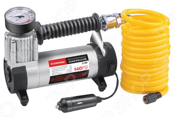 Компрессор автомобильный StarWind CC-280 компрессор для шин 3 12v 250 psi