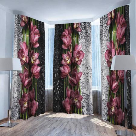 Купить Фотошторы ТамиТекс «Орхидея на стекле»