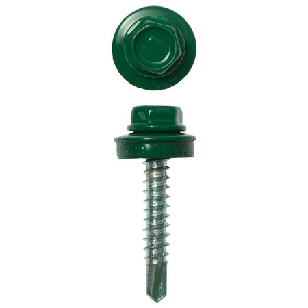 Купить Набор саморезов кровельных Зубр СКД для деревянной обрешетки. Цвет: зеленый