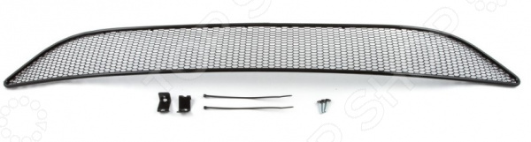 Сетка на бампер внешняя Arbori Soty для Ford Focus III, 2015. Цвет: черный сетка на бампер внешняя arbori soty для ford mondeo 2015