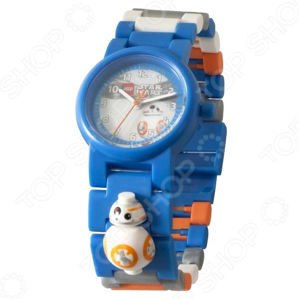 Часы наручные детские LEGO с минифигурой BB-8 на ремешке часы наручные lego часы наручные аналоговые lego star wars с минифигурой darth vader на ремешке
