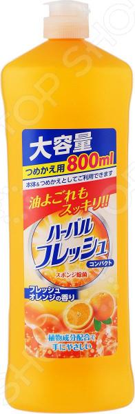 Средство для мытья посуды, овощей и фруктов Mitsuei с ароматом апельсина «Концентрат» цена и фото