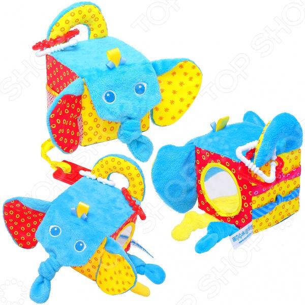 Кубики обучающие мягкие Мякиши «Слон»