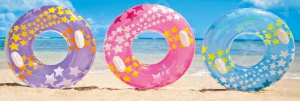 Круг надувной Intex «Звезды» intex надувной круг для плавания 76 см