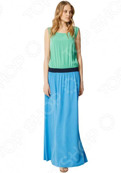 Платье Finn Flare S16-11036. Цвет: голубой