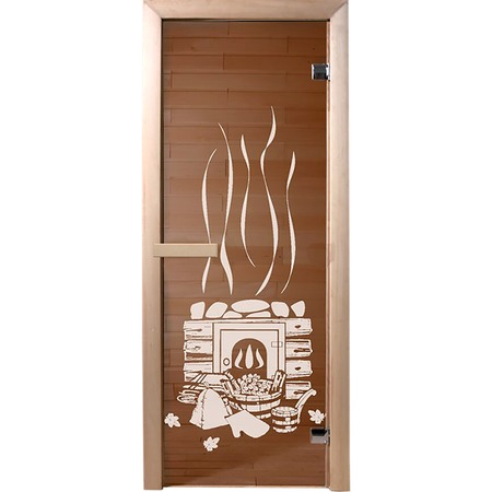 Купить Дверь для бани Банные штучки «Банька» 34012