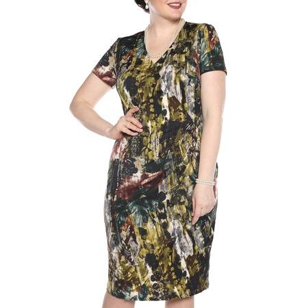 Купить Платье La Via Estelar «Цветочный пейзаж». Цвет: зеленый