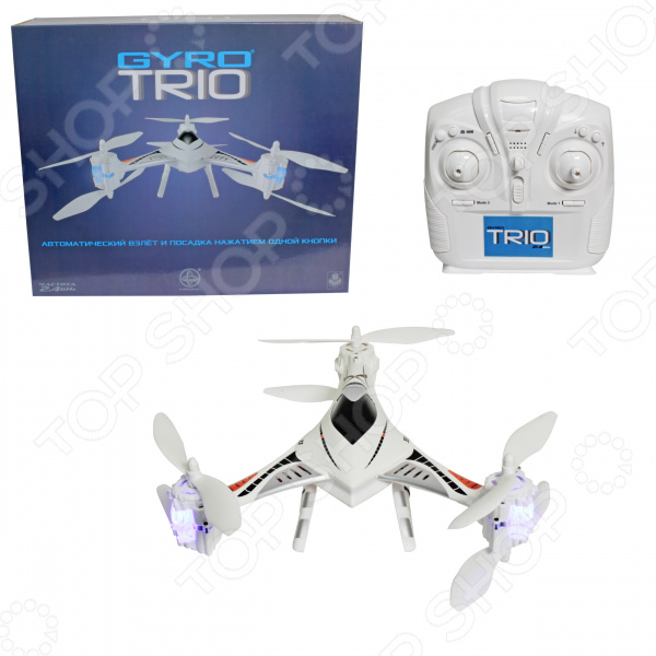 Трикоптер на радиоуправлении 1 Toy GYRO-Trio fashion gyro stress reliever pressure reducing toy for office worker