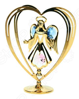 где купить  Фигурка декоративная Crystocraft «Ангел» с кристаллами Swarovski 67169  по лучшей цене