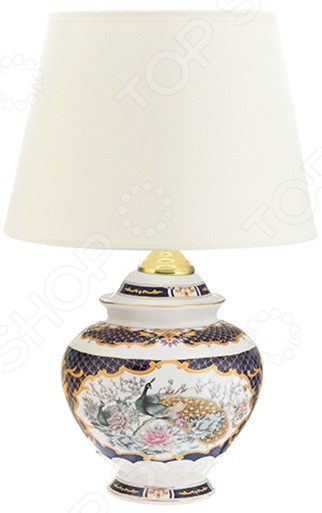 Лампа настольная Elan Gallery «Павлин на золоте»