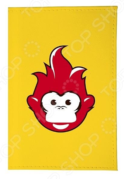 Обложка для паспорта кожаная Mitya Veselkov «Огненная обезьяна» mitya veselkov обложка для паспорта дорога в сказочный лес