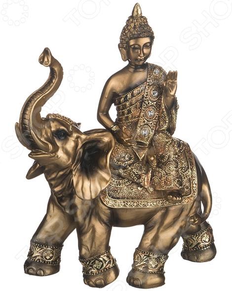 Фигурка декоративная Lefard «Будда на слоне» 146-515 статуэтка lefard африканка на слоне