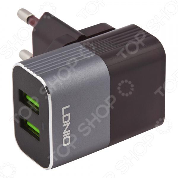 Устройство зарядное сетевое Ldnio Apple 8 pin A2206 сетевое зарядное устройство deppa ultra 2 usb 2 1 а дата кабель 8 pin apple mfi