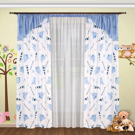 Комплект штор детский и тюль Синель «Аллегро Экстра» 17