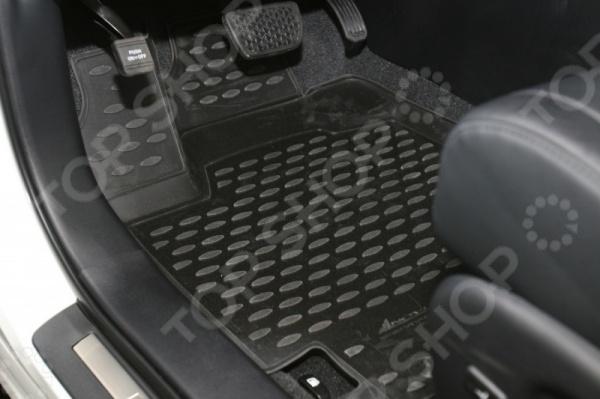 Комплект 3D ковриков в салон автомобиля Novline-Autofamily Toyota Highlander 2010-2014 комплект ковриков в салон автомобиля novline autofamily toyota camry 2011 2014 2014
