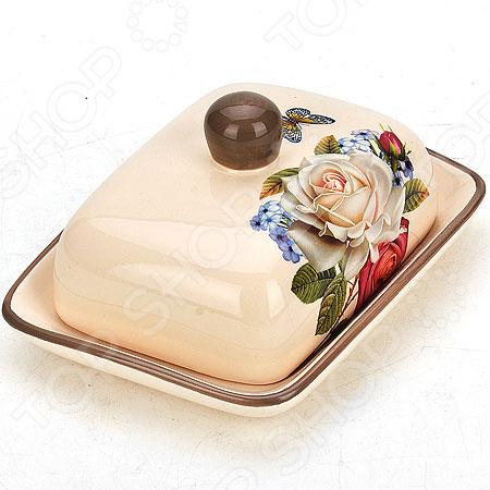 Масленка Loraine «Розы» 21704 21704 масленка с крышкой розы мв 906489