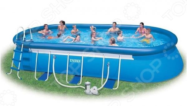 Бассейн каркасный с аксессуарами Intex овальный бассейн цены в воронеже