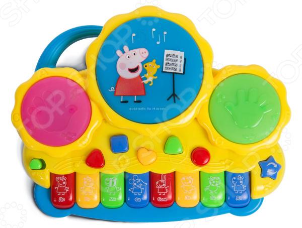 Пианино игрушечное Peppa Pig с барабанами. В ассортименте