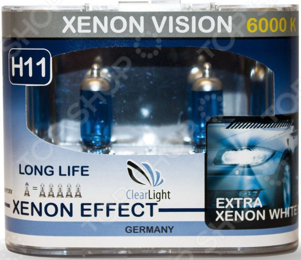 Комплект автоламп галогенных ClearLight XenonVision H11 12V-55W