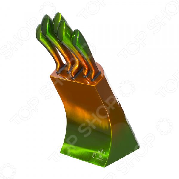 Набор ножей на подставке Berlinger Haus Metallic Sun Shine набор кухонных ножей квартет кизляр
