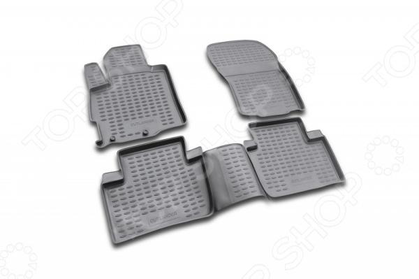 Комплект ковриков в салон автомобиля Novline-Autofamily Mitsubishi Outlander XL 2005-2010 / 2010-2012