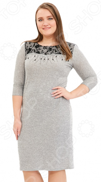 Платье LORICCI «Женские слабости». Цвет: серый платье loricci белые ночи цвет серый