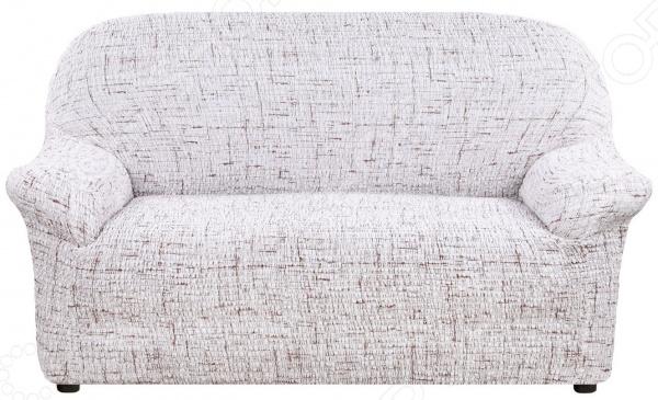 Натяжной чехол на двухместный диван Еврочехол «Тела Страда»
