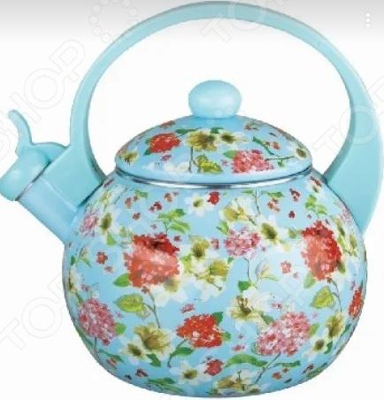 Чайник эмалированный Kelli KL-4455 «Флоксы» матвеев и флоксы метельчатые