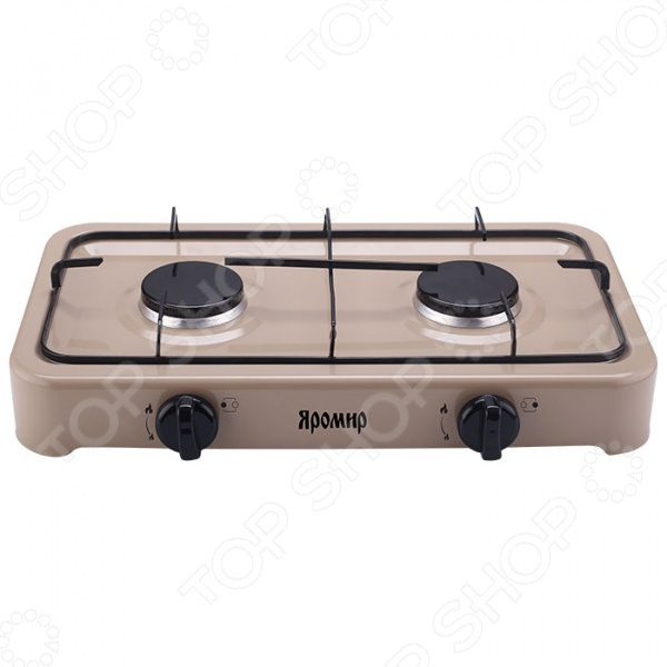 Плита настольная газовая Яромир ЯР-3012 Плита настольная газовая Яромир ЯР-3012 /Бежевый