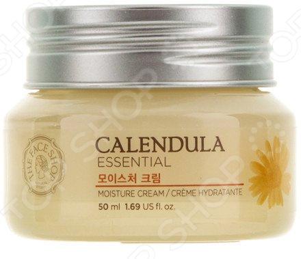Крем для лица увлажняющий THE FACE SHOP Calendula Essential какой крем для лица после 45