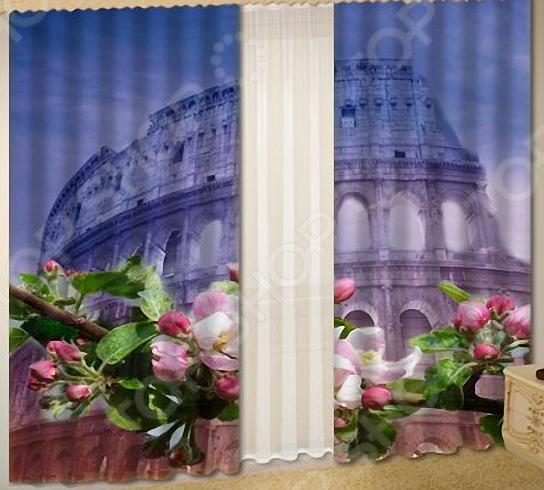 Комплект фотоштор с тюлем «Колизей»