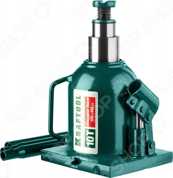 Домкрат гидравлический бутылочный Kraftool Double Ram Домкрат гидравлический бутылочный Kraftool 43463-10 /10