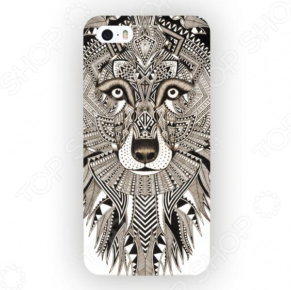 Чехол для iPhone 5 Mitya Veselkov «Зентангл: Волк» mitya veselkov тюльпановый принт чехол для apple iphone 5 5s