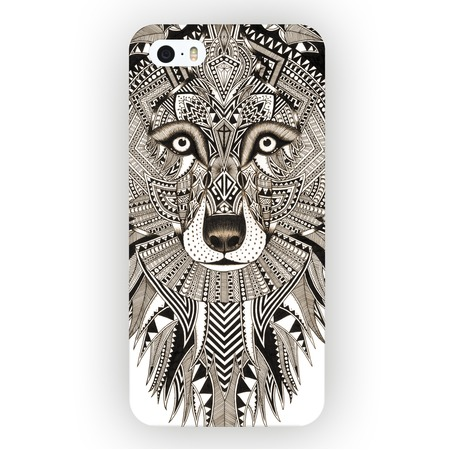 Купить Чехол для iPhone 5 Mitya Veselkov «Зентангл: Волк»