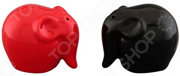 Набор для специй Elan Gallery «Слоны красно-черные»