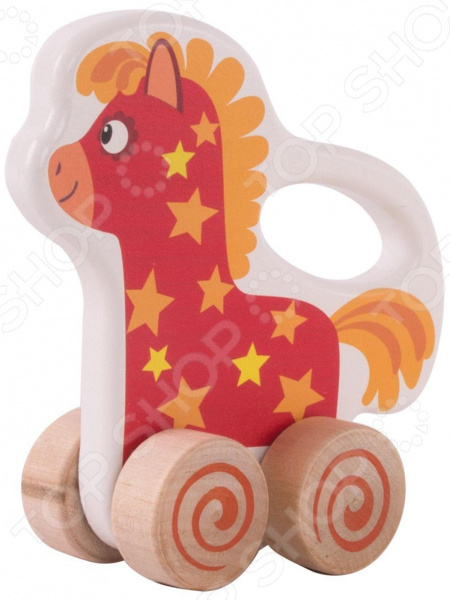 Каталка Деревяшки «Лошадка И-Го-Го»