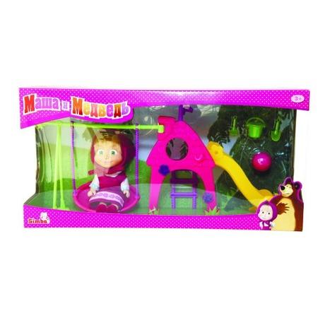 Купить Кукла с аксессуарами Simba «Маша с детской игровой площадкой»