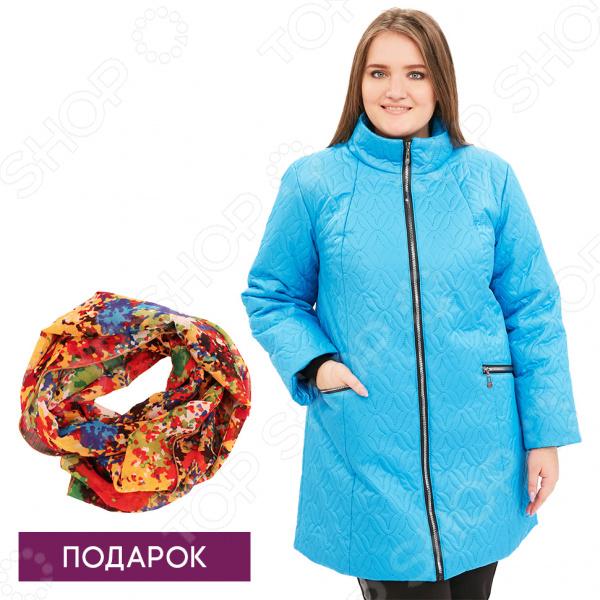 Куртка Гранд Гром «Бесценная женщина». Цвет: голубой