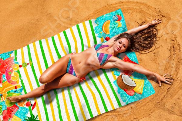 Покрывало пляжное Сирень «Охлаждающий фреш»