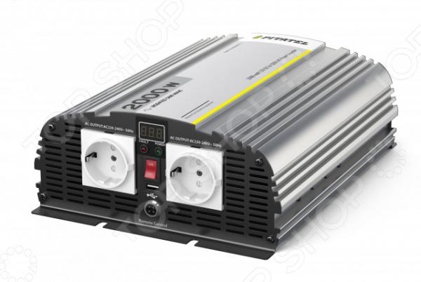 Инвертор автомобильный Pitatel KV-M2000DRU.12 автоинвертор pitatel kv m300u 24