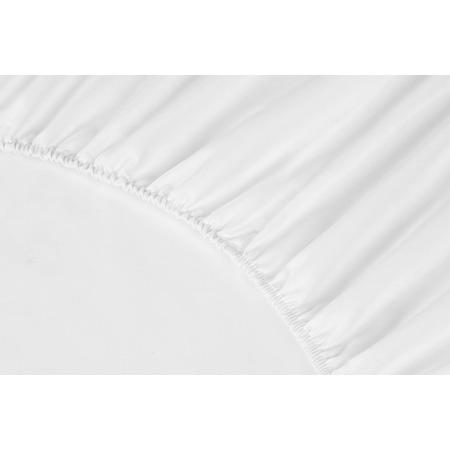 Купить Простыня на резинке Ecotex Premium. Тип ткани: сатин. Цвет: белый