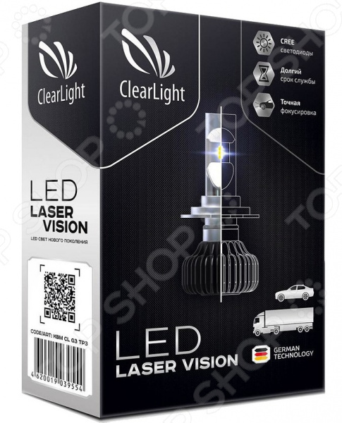 Комплект автоламп светодиодных ClearLight Laser Vision H7 4300 lm 24W с обманкой