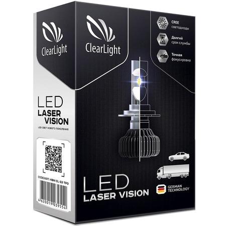 Купить Комплект автоламп светодиодных ClearLight Laser Vision H7 4300 lm 24W с обманкой. В ассортименте