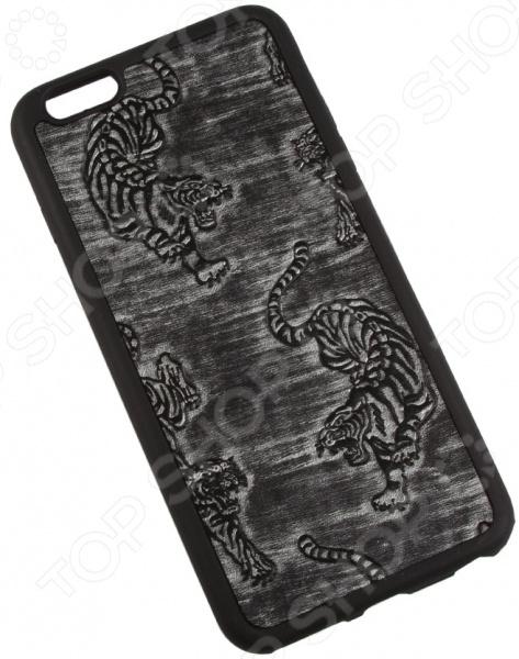 Чехол для iPhone 6/6S Plus Old «Тигры на серебре»